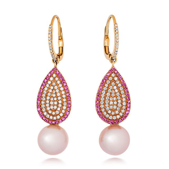 Touch Of Pink Earrings