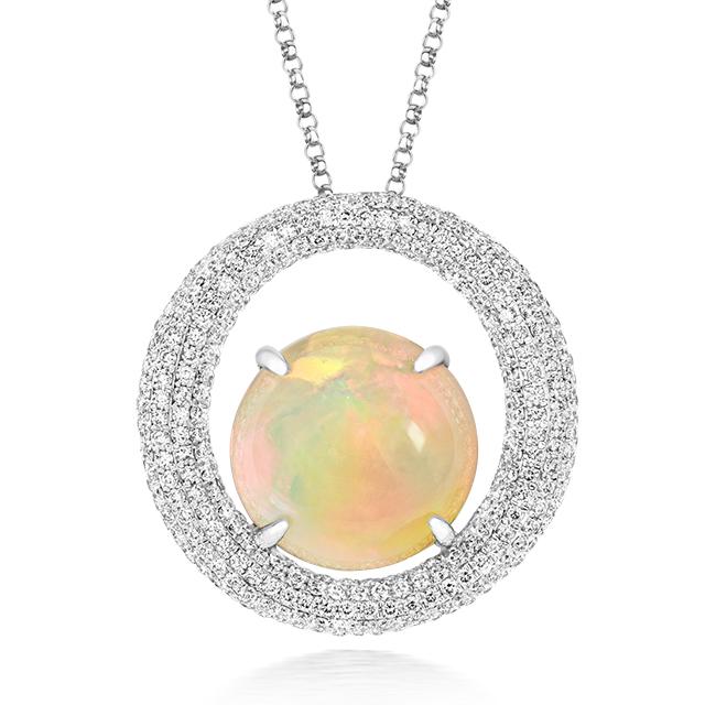 Opulent Opal Pendant